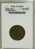 1825 1/2 C --Scratched--ANACS. XF40 Details. NGC Census: (6/134). PCGS Population (8/116). Mintage: 63,000. Numismedia W...