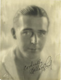 "Movie/TV Memorabilia:Autographs and Signed Items, Wallace Reid Signed Photo. A b&w 6.5"" x 8.5"" photo inscribedand signed by the silent era heartthrob in black ink. In Fine t...(Total: 1 Item)"