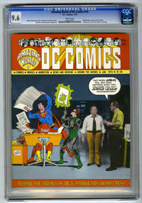 Amazing World of DC Comics #10 (DC, 1976) CGC NM+ 9.6 White pages. Behind the scenes at DC Comics. Sol Harrison and Jack...