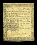 Colonial Notes:Pennsylvania, Pennsylvania April 20, 1781 9d Fine-Very Fine. A well margined, good-looking example of this late-issued Pennsylvania Small ...