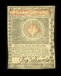 Colonial Notes:Rhode Island, Rhode Island July 2, 1780 $20 Choice About New. A center fold hascolonized this $20 note....