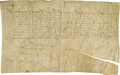 """Autographs:Non-American, Louis XIII of France Document Signed """"Louis """" as king, onepage in French, 14"""" x 8.75"""", on vellum, July 1621, n.p.. Loui..."""