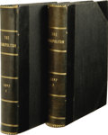 Books:Periodicals, Two Bound Volumes of The Cosmopolitan Magazine With theComplete Serialization of H. G. Wells' War of the Worlds.Th... (Total: 2 )