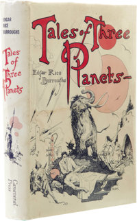 Edgar Rice Burroughs: Tales of Three Planets. (New York: Canaveral Press, 1964), first edition, 282 pages, blue cloth wi...
