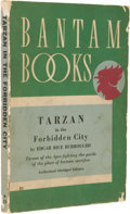 Books:First Editions, First Edgar Rice Burroughs Paperback: Tarzan in the ForbiddenCity. (Los Angeles: Bantam Books, 1940), first paperback e...