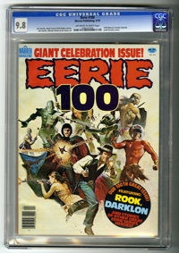 Eerie #100 (Warren, 1979) CGC NM/MT 9.8 Off-white to white pages. Jim Starlin and Alfredo Alcala art. Jordi Penalva cove...