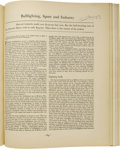 Books:Periodicals, Ernest Hemingway Signed March, 1930 Edition of FortuneMagazine. (New York: Time, Inc., 1930), 152 pages, folio (11....