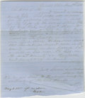 Autographs:U.S. Presidents, Abraham Lincoln Unsigned Autograph Document. Piatt Co., Ill., 12October 1852, one page, folio, on blue paper. An affidavit ...