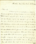 "Autographs:Inventors, Cadwallader D. Colden Autograph Letter Signed in full. Four pages,8"" x 9.75"", Harlem Near New York, October 28, 1822. It re..."