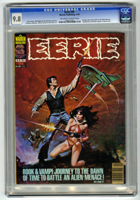 Eerie #95 (Warren, 1978) CGC NM/MT 9.8 Off-white to white pages. Vampirella and Pantha appear in Rook story. Eight page...