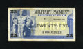 Military Payment Certificates:Series 692, Series 692 25¢ Replacement Note Very Fine This replacement carries serial number E00401913 and is problem free....