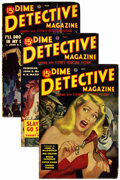 Pulps:Detective, Dime Detective Magazine Group (Popular, 1949) Condition: Average VG.... (Total: 5)