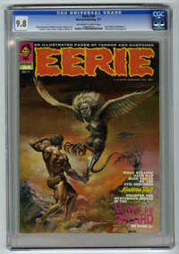 Eerie #34 (Warren, 1971) CGC NM/MT 9.8 Off-white to white pages. Boris Vallejo cover. Tom Sutton and Mike Royer art. Ove...