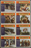 "Movie Posters:Adventure, Hercules (Warner Brothers, 1959). Lobby Card Set of 8 (11"" X 14"").Adventure Fantasy. Starring Steeve Reeves, Gianna Maria C...(Total: 8 Items)"