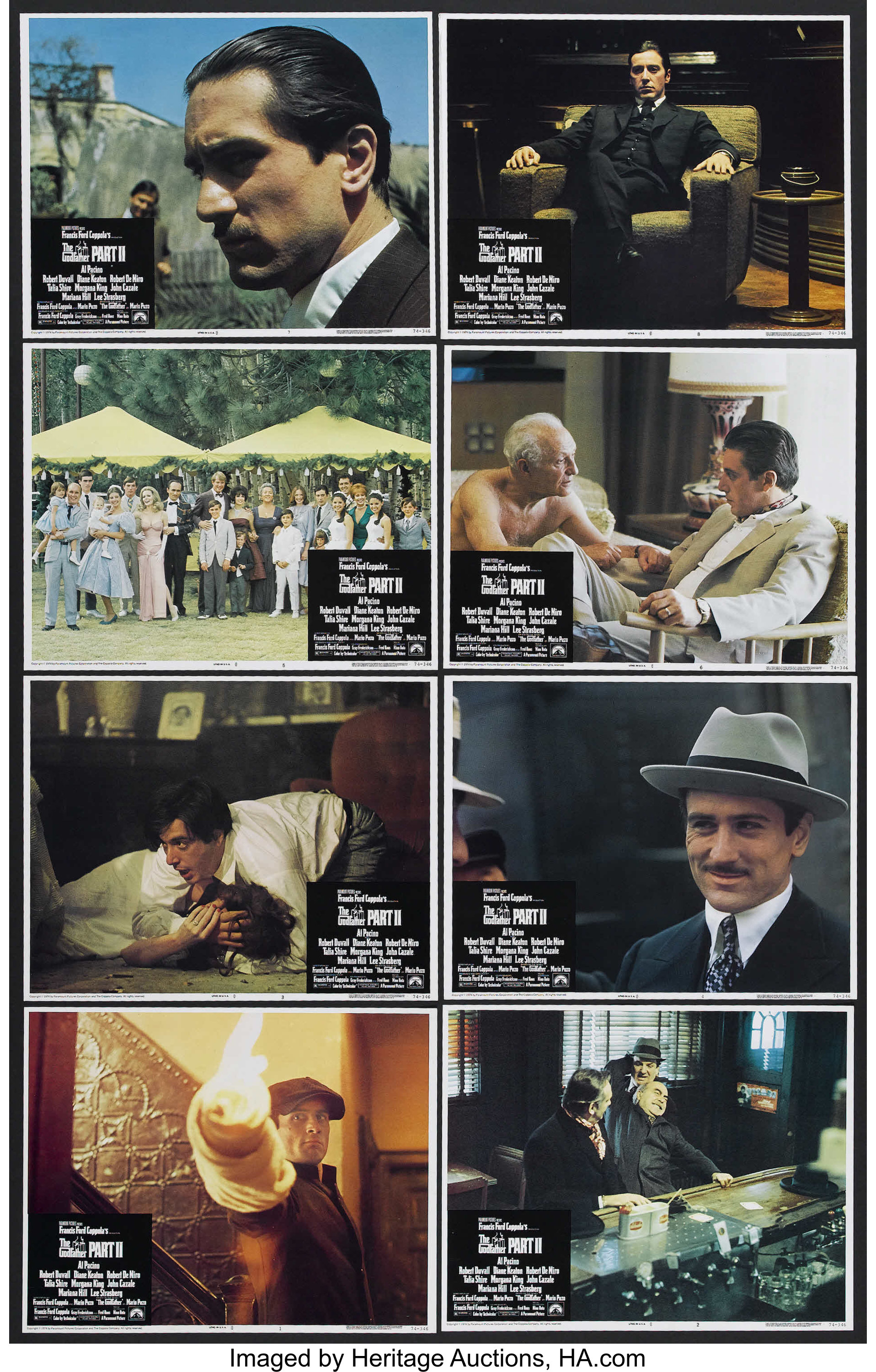 The Godfather Part II (Paramount, 1974)  Lobby Card Set of 8 (11