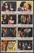 "Movie Posters:Adventure, The King's Thief (MGM, 1955). Lobby Card Set of 8 (11"" X 14"").Adventure. Starring Ann Blyth, Edmund Purdom, David Niven and...(Total: 8 Items)"
