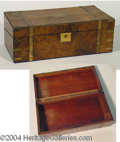 Autographs, Antique Wooden Box