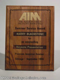 Autographs, Blackstone Award: Assoc. of Incentive Mtg. 4/1