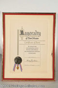 Autographs, Blackstone Award: New Orleans Mayoralty 1/78