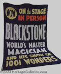 Autographs, HARRY BLACKSTONE SR AD BANNER