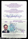 Autographs, Harry Blackstone, Jr. Passport (1986)