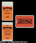 Autographs, Harry Blackstone Jr. Backstage Pass Collection