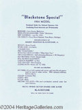 Autographs, Harry Blackstone Jr. Original Birth Announcement
