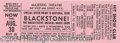 Autographs, Harry Blackstone Original Show Ticket