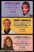 Autographs, Harry Blackstone Jr. Vintage Show Postcards