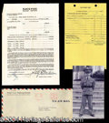 Autographs, Harry Blackstone Sr. Military School Papers for Harry Jr. c. 1940!