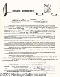 Autographs, Harry Blackstone Jr. Cruise Performance Contract