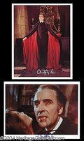 Autographs, Christopher Lee Signed Photo Lot