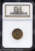 Indian Cents: , 1892 MS65 Red NGC. ...