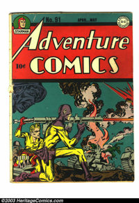 Adventure Comics #91 (DC, 1944) Condition: GD. Last Sandman by Joe Simon and Jack Kirby in this title. Has white pages a...