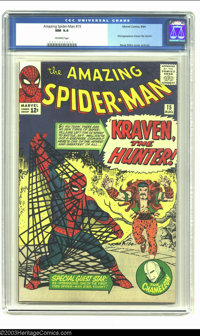 Amazing Spider-Man #15 (Marvel, 1964) CGC NM 9.4 Off-white pages. Steve Ditko cover and art. First appearence of Kraven...
