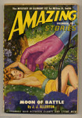 Pulps:Science Fiction, Amazing Stories (Pulp) Oct '33 and Dec '49 Group (Ziff-Davis,1935). This lot consists of V8#2 from October 1933 (GD), which...(Total: 2 items Item)