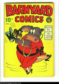 Golden Age (1938-1955):Funny Animal, Barnyard Comics #5 (Polo Magazines, 1945) Condition: VF. UnlistedHitler appearance. Brown pages. Overstreet 2003 VF 8.0 val...