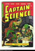 Golden Age (1938-1955):Science Fiction, Captain Science #4 (Youthful Magazines, 1951) Condition: GD+. Wally Wood and Joe Orlando art. There are four pieces of tape ...