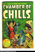Golden Age (1938-1955):Horror, Chamber of Chills 21 (#1) (Harvey, 1951) Condition: FN. First issuethis title. Bondage cover by Al Avison. Rudy Palais and ...