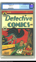 Golden Age (1938-1955):Superhero, Detective Comics #45 (DC, 1940) CGC FN/VF 7.0 Off-white to white pages. First Joker story in Detective Comics. Overstreet 20...