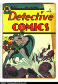 Golden Age (1938-1955):Superhero, Detective Comics #97 (DC, 1945) Condition: FR. Chunk and piece out of front cover. Overstreet 2003 GD 2.0 value = $76....