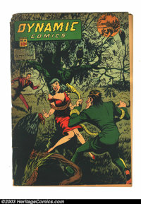 Dynamic Comics #16 (Chesler, 1945) Condition: FR. Marijuana story. Spine splits and back cover detached. Overstreet 2003...