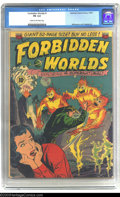 Golden Age (1938-1955):Science Fiction, Forbidden Worlds #1 (ACG, 1951) CGC FN 6.0 Cream to off-whitepages. Premiere issue of the long-running supernatural-themed ...