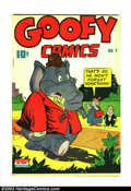 Golden Age (1938-1955):Funny Animal, Goofy Comics #7 (Nedor Publications, 1944) Condition: VF-. Funnyanimal stories. Has white pages and great color; from an or...