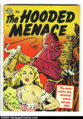 Golden Age (1938-1955):Horror, Hooded Menace #1 (Realistic Comics, 1951) Condition: GD. Based on aband of hooded outlaws in the Pacific Northwest between ...