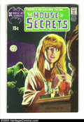 Bronze Age (1970-1979):Horror, House of Secrets #92 (DC, 1971) Condition: FN/VF. First appearanceof the Swamp Thing, by Bernie Wrightson. Classic cover. O...