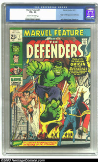 Marvel Feature #1 (Marvel, 1971) CGC FN+ 6.5 Cream to off-white pages. Origin and first appearance of the Defenders. Nea...