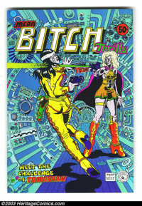 Mean Bitch Thrills #1 (Print Mint, 1971) Condition: NM-. Cover to cover dementia by Spain Rodriguez. This and other Unde...