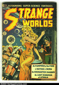 Golden Age (1938-1955):Science Fiction, Strange Worlds #4 (Avon, 1951) Condition: GD+. Wally Wood cover andart. Joe Orlando art. Origin the Enchanted Dagger. Sulta...