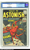 Silver Age (1956-1969):Horror, Tales to Astonish #14 (Marvel, 1960) CGC VF- 7.5 Off-white pages.Jack Kirby, Dick Ayers, and Steve Ditko art. Only five cop...